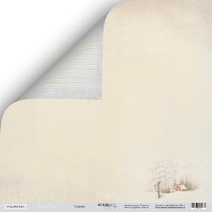 Лист двусторонней бумаги 30x30 от Scrapmir Сияние из коллекции Shabby Winter 10шт