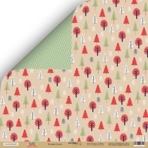 Лист двусторонней бумаги 30x30 от Scrapmir Зимняя сказка из коллекции  Hello Christmas 10шт.