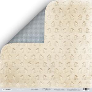 Лист двусторонней бумаги 30x30 от Scrapmir Ангелочки из коллекции Shabby Winter 10шт