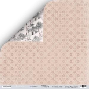 Лист двусторонней бумаги 30x30 от Scrapmir Снежинки из коллекции Shabby Winter 10шт