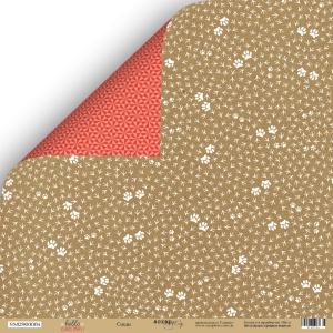 Лист двусторонней бумаги 30x30 от Scrapmir Следы из коллекции  Hello Christmas 10шт.