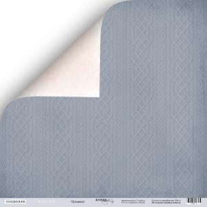 Лист двусторонней бумаги 30x30 от Scrapmir Орнамент из коллекции Shabby Winter 10шт