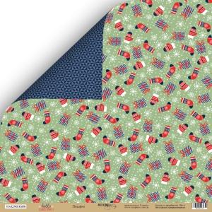 Лист двусторонней бумаги 30x30 от Scrapmir Подарки из коллекции  Hello Christmas 10шт.