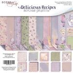 Набор двусторонней бумаги 30х30см от Scrapmir Delicious Recipes 10шт