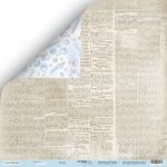 Лист двусторонней бумаги 30x30 от Scrapmir Газета из коллекции Mommy's Hero 10шт