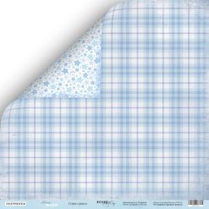 Лист двусторонней бумаги 30x30 от Scrapmir Синее Одеяло из коллекции Mommy's Hero 10шт
