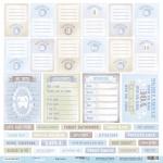 Лист односторонней бумаги 30x30 от Scrapmir Карточки (ENG) из коллекции Mommy's Hero 10шт