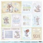 Лист односторонней бумаги 30x30 от Scrapmir Карточки 2 (ENG) из коллекции Mommy's Hero 10шт