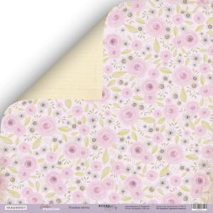 Лист двусторонней бумаги 30x30 от Scrapmir Розовые Мечты из коллекции Daddy's Princess 10шт