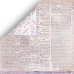 Лист двусторонней бумаги 30x30 от Scrapmir Газета 2 из коллекции Daddy's Princess 10шт