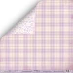 Лист двусторонней бумаги 30x30 от Scrapmir Фиолетовое Одеяло из коллекции Daddy's Princess 10шт