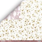 Лист двусторонней бумаги 30x30 от Scrapmir Золотые Звёзды из коллекции Unicorns 10шт