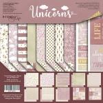 Набор двусторонней бумаги 30х30см от Scrapmir Unicorns 10шт