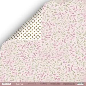 Лист двусторонней бумаги 30x30 от Scrapmir Розовые Ветви из коллекции Unicorns 10шт