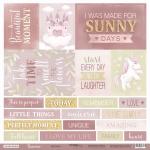 Лист односторонней бумаги 30x30 от Scrapmir Карточки (ENG) из коллекции Unicorns 10шт