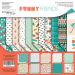 Набор двусторонней бумаги 30х30см от Scrapmir Funny Friends 11шт