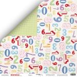 Лист двусторонней бумаги 30x30 от Scrapmir Цифры из коллекции Birthday Party 10шт