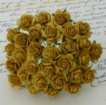 Розочки 20мм - 100шт - OLD GOLD MULBERRY PAPER OPEN ROSES