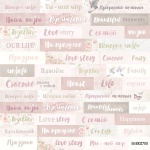 Лист односторонней бумаги 20х20см Надписи (RU) Beautiful Moments от Scrapmir 10шт