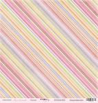 Лист односторонней бумаги 30x30 от Scrapmir Полоски из коллекции Наша Малышка 10шт