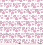 Лист односторонней бумаги 30x30 от Scrapmir Цветочки из коллекции Наша Малышка 10шт