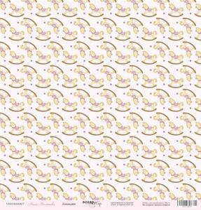 Лист односторонней бумаги 30x30 от Scrapmir Лошадки из коллекции Наша Малышка 10шт