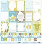 Лист односторонней бумаги 30x30 от Scrapmir Карточки из коллекции Наш Малыш 10шт