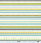 Лист односторонней бумаги 30x30 от Scrapmir Полоски из коллекции Наш Малыш 10шт
