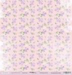 Лист односторонней бумаги 30x30 от Scrapmir Гортензии из коллекции Сиреневые мечты 10шт