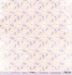 Лист односторонней бумаги 30x30 от Scrapmir Бабочки из коллекции Сиреневые мечты 10шт