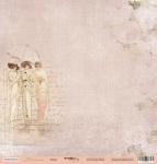 Лист односторонней бумаги 30x30 от Scrapmir Дамы из коллекции Нежность 10шт