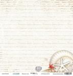 Лист односторонней бумаги 30x30 от Scrapmir Морское дно из коллекции Море 10шт