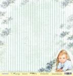 Лист односторонней бумаги 30x30 от Scrapmir Малышок из коллекции Корица 10шт