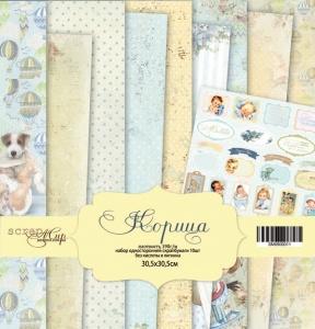 Набор односторонней бумаги 30х30см от Scrapmir Корица 10шт