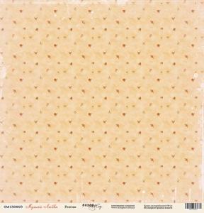 Лист односторонней бумаги 30x30 от Scrapmir Розочки из коллекции Музыка Любви 10шт