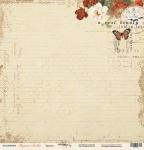 Лист односторонней бумаги 30x30 от Scrapmir Красота из коллекции Музыка Любви 10шт
