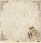 Лист односторонней бумаги 30x30 от Scrapmir Мгновения из коллекции Наша Свадьба 10шт