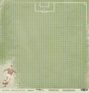 Лист односторонней бумаги 30x30 от Scrapmir Пенальти из коллекции Мистер Винтаж 10шт
