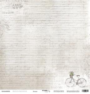 Лист односторонней бумаги 30x30 от Scrapmir Кладка из коллекции French Provence 10шт