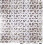 Лист односторонней бумаги 30x30 от Scrapmir Мотыльки из коллекции French Provence 10шт