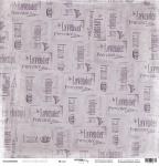 Лист односторонней бумаги 30x30 от Scrapmir Штамп из коллекции French Provence 10шт