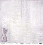 Лист односторонней бумаги 30x30 от Scrapmir Проза из коллекции French Provence 10шт
