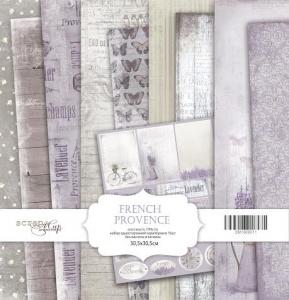 Набор односторонней бумаги 30х30см от Scrapmir French Provence 10шт