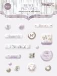 Набор эпоксидных наклеек 16шт от Scrapmir French Provence