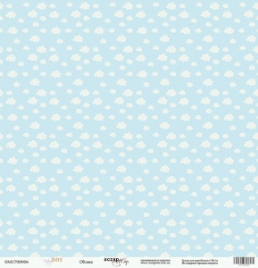 Лист односторонней бумаги 30x30 от Scrapmir Облака из коллекции Baby Boy 10шт