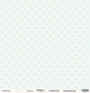 Лист односторонней бумаги 30x30 от Scrapmir Цветочки из коллекции Baby Girl 10шт