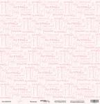 Лист односторонней бумаги 30x30 от Scrapmir Малышка из коллекции Baby Girl 10шт