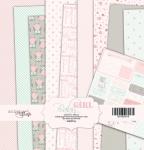 Набор односторонней бумаги 20х20см от Scrapmir Baby Girl 10шт