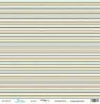 Лист односторонней бумаги 30x30 от Scrapmir Полоски из коллекции Такие Мальчишки 10шт