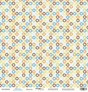 Лист односторонней бумаги 30x30 от Scrapmir Кружочки из коллекции Такие Мальчишки 10шт